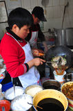 Chinese noodle cooker. Royalty Free Stock Images