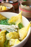 Chinese noodle with dimsum Stock Image