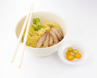 Chinese noodle with pork Royalty Free Stock Photo