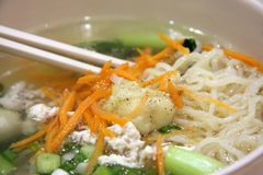 Chinese noodle soup Stock Photo