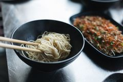 Chinese noodle soup , Traditional chinese food in close up. Chinese noodle soup , Traditional chinese food stock photography