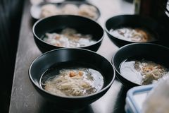Chinese noodle soup , Traditional chinese food. In closeup royalty free stock image