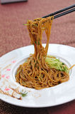 Chinese noodle. Chinese Vegetables diced meat surface Stock Photography