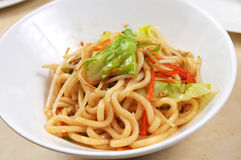 Chinese noodle. Chinese Vegetables diced meat surface Stock Photos