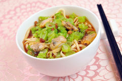 Chinese noodle. Chinese Vegetables diced Seafood surface Stock Photography