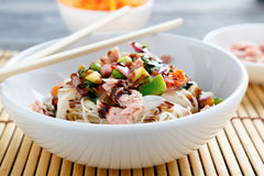 Chinese noodles in a bowl Stock Image