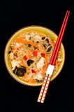 Chinese noodles bowls Royalty Free Stock Image