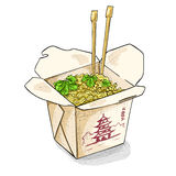 Chinese noodles box color picture Royalty Free Stock Photos