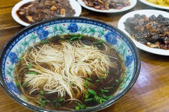 Chinese noodles closeup Royalty Free Stock Image