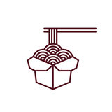 Chinese noodles icon Royalty Free Stock Photos