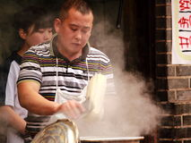 Chinese noodles cooking Chengdu China Stock Photo