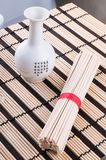 Chinese noodles on the mat Stock Photos
