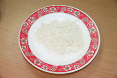 Chinese Noodles On Plate. Royalty Free Stock Photography