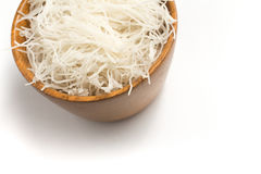 Chinese Noodles. Rice vermicelli Pasta into a bowl Stock Image