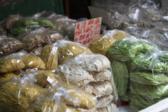 Chinese noodles for sale Royalty Free Stock Photos