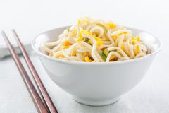 Chinese noodles sauteed with vegetables Stock Photo