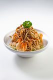 Chinese Noodles. With seafood bits Stock Image