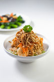 Chinese Noodles. With seafood bits Stock Photography