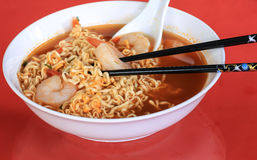 Chinese Noodles and Shrimp Stock Photos