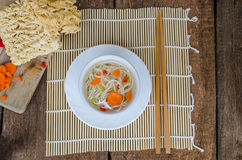 Chinese noodles soup healthy? Stock Photo