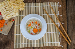 Chinese noodles soup healthy? Stock Image