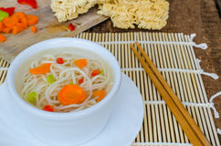 Chinese noodles soup healthy? Stock Photography