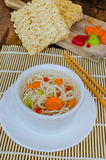 Chinese noodles soup healthy? Royalty Free Stock Photo