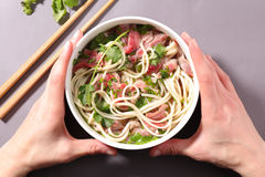 Chinese noodles soup Royalty Free Stock Photo