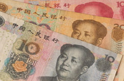 Chinese notes Royalty Free Stock Photos