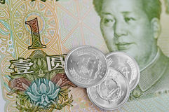 Chinese Notes and Coins Stock Photos
