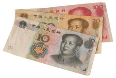 Chinese notes Stock Images
