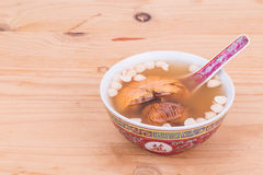 Chinese nourishing tonic soup to relieve cough Stock Photography