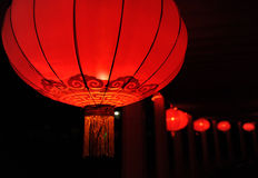 Chinese nylon rode lantaarn Stock Afbeelding