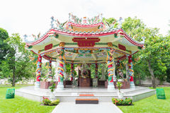 The Chinese Octagonal Dragon Pavilion Royalty Free Stock Photography