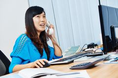 Chinese office manager woman Stock Images