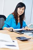 Chinese office manager woman Royalty Free Stock Photos