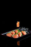 Chinese official food salmon sashimi Royalty Free Stock Photo