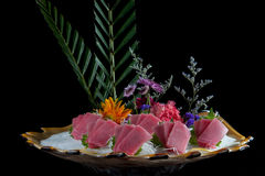 Chinese official food salmon sashimi Stock Image