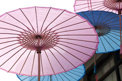 Chinese Oil paper umbrellas Royalty Free Stock Photo