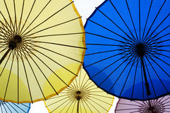 Chinese oilpaper umbrellas Stock Photos