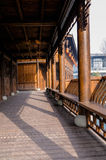 Chinese old-fashioned wood gallery Stock Image