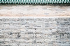 Chinese Old Gray Brick Wall Royalty Free Stock Photography