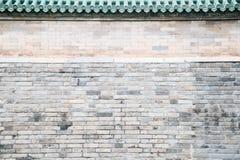 Chinese old gray brick wall