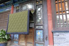 Chinese old house in winter, adobe rgb. Chinese traditional old house in xian city, china. In northern China, the winter is very cold. Some old house door Royalty Free Stock Photos