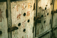 Chinese old mailbox Stock Image