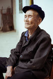 Chinese old man portrait Stock Photo