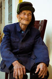 Chinese old man portrait Stock Image