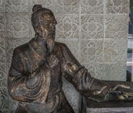Chinese old man statue stock images