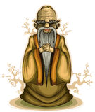 Chinese old sage vector illustration