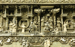Chinese old story stone carving Royalty Free Stock Image